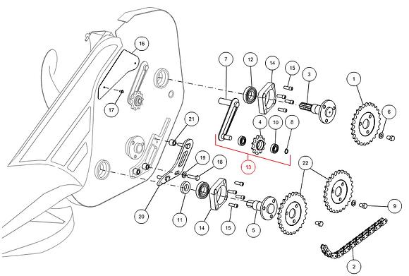 Tendeur chaîne complet CAPELLO M3-30004