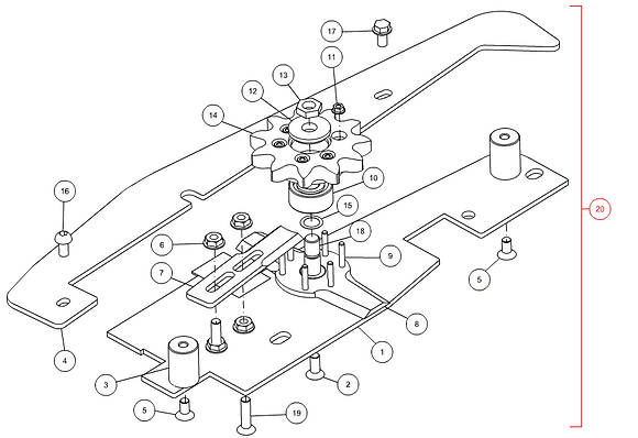 KM-000037 Kit tournesol droit CAPELLO