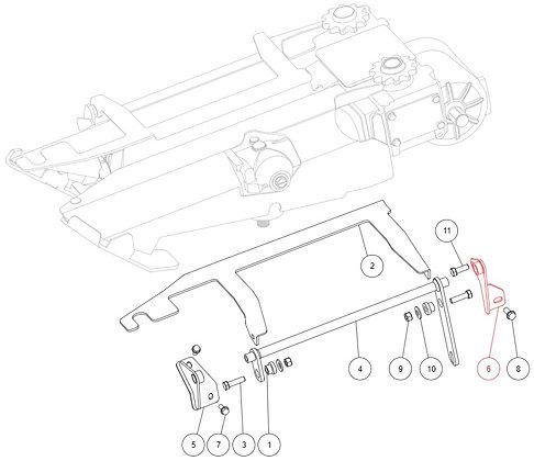 Charnière arrière gauche M2-80018