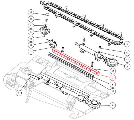Guide chaîne CAPELLO M1-80025