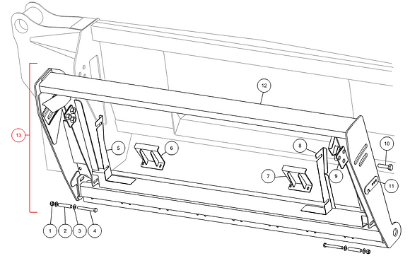 Cadre complet adaptation NH CAPELLO M3-50003