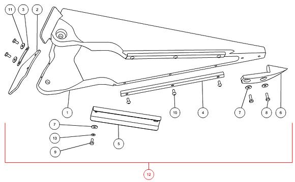 Pointe de diviseur centrale complète CAPELLO M2-40025