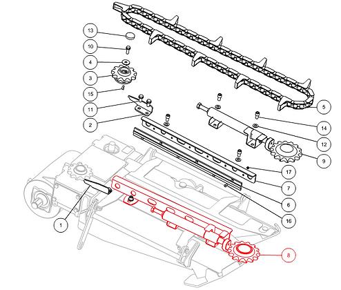 Tendeur chaîne droit CAPELLO M4-80001