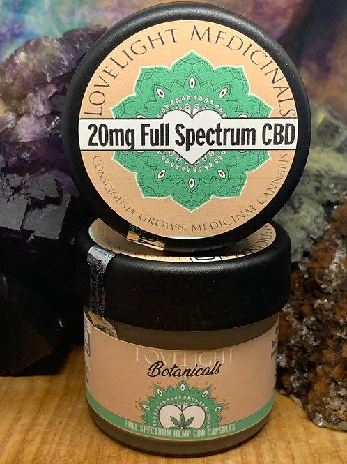 20mg Full Spectrum CBD Capsules