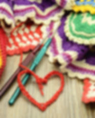 crocheting colorful oven cloth. handmade