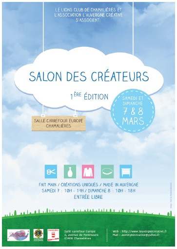 Salon des créateurs chamalières 7 et 8 mars 2016