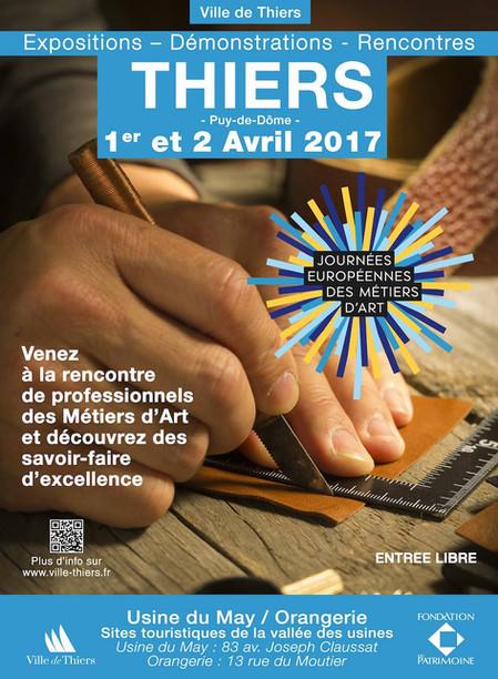Les Journées Européennes des Métiers d'Art à THIERS - 1 et 2 Avril 2017