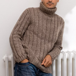 Pull homme tricoté main