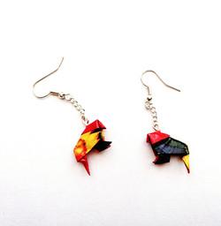 boucle d'oreille origami