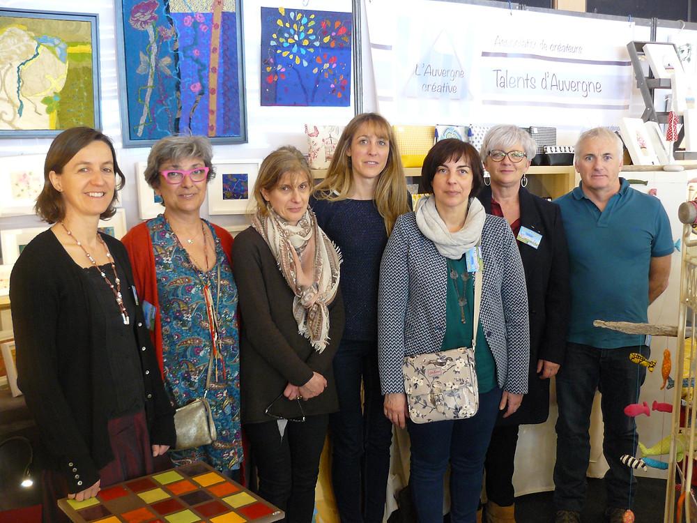 L'équipe de l'Auvergne Créative au salon de l'habitat