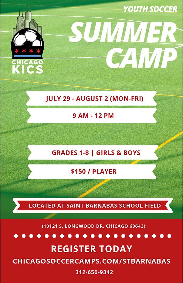 Saint Barnabas Summer Soccer Camp