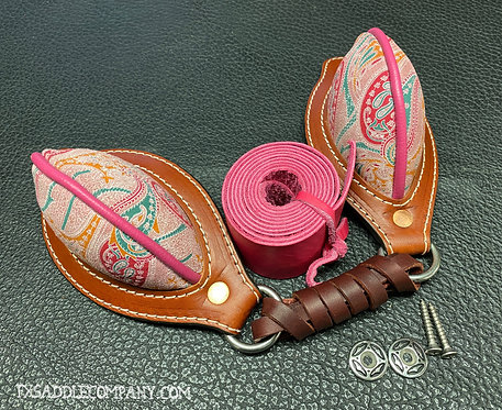 Pink Paisley!! - Handmade Leather Bucking Rolls