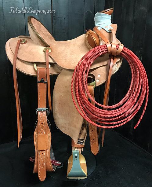 Custom Plain Jane Roughout Wade Saddle