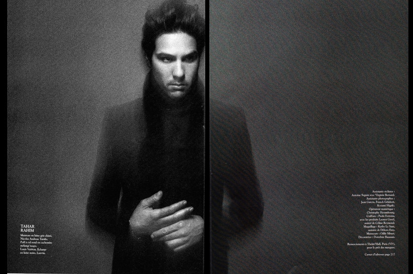 Tahar Rahim for l'Express Styles by Paolo Roversi