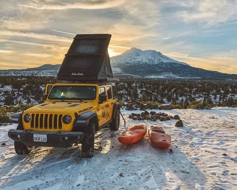 Jeep on mountain