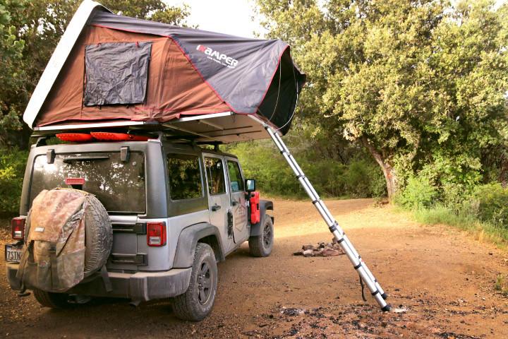Roof top Tent camping california