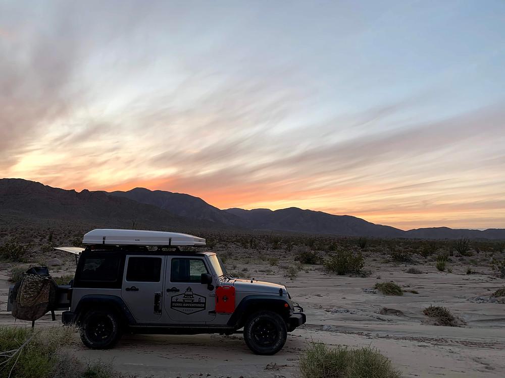 Overlanding California desert jeep 4x4