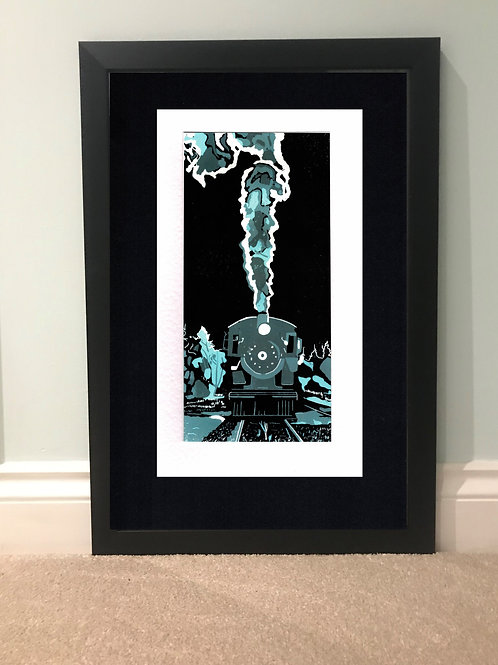 Limited Edition Reduction Lino Print | Steam