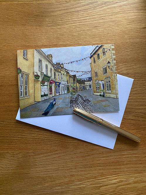 Blank Greetings Card   Dawn Patrol