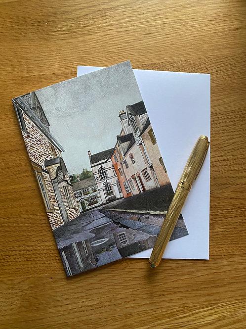 Blank Greetings Card | Church Street Puddles