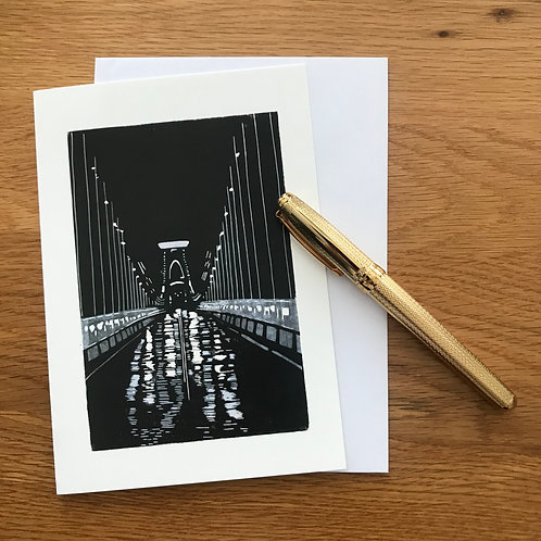Blank Greetings Card | Rainy Night on Clifton