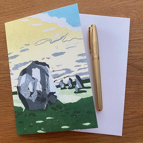 Blank Greetings Card | Avebury 2