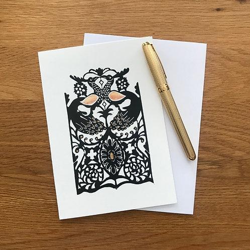 Blank Greetings Card | Corsham Peacocks