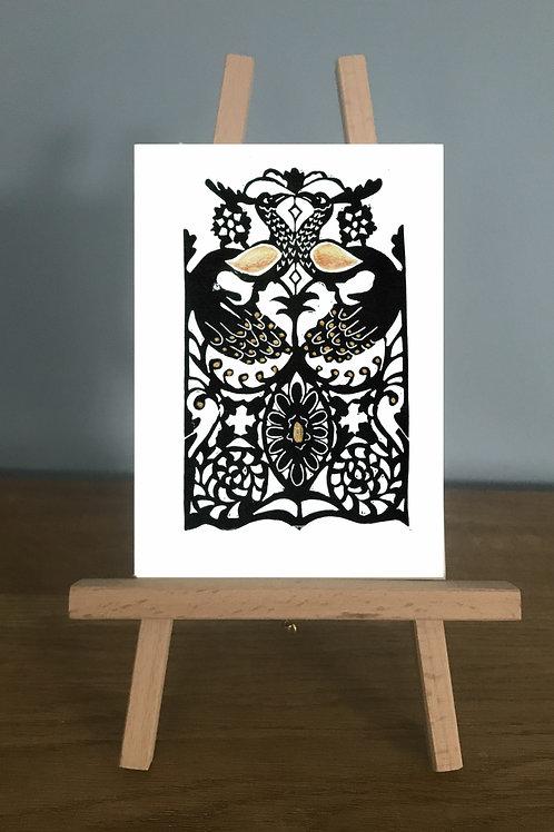 Corsham Peacocks - Blank Greetings Card
