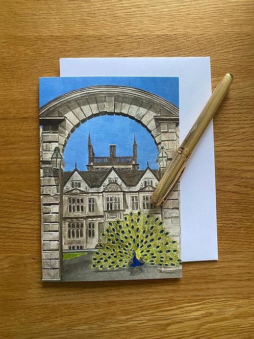 Blank Greetings Card   Corsham Court