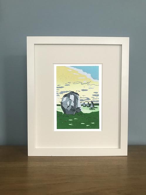 Avebury - Lino Print