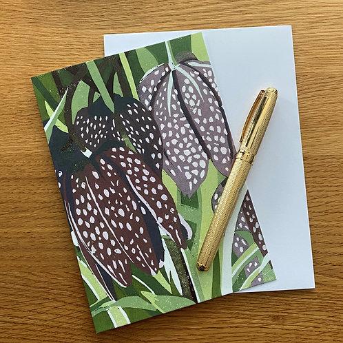 copy of Blank Greetings Card | Fritillaries