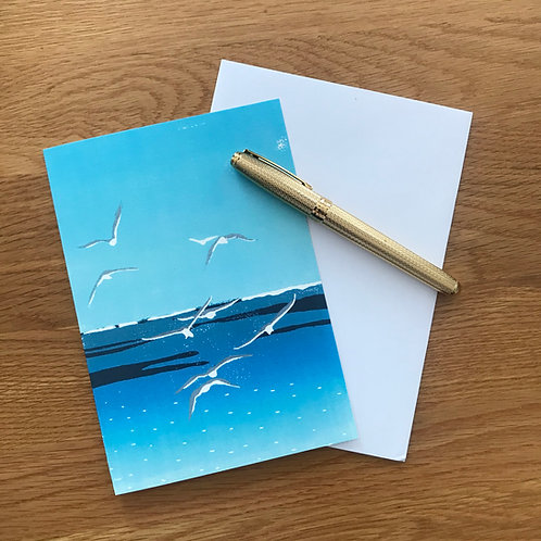 Blank Greetings Card | Seagulls