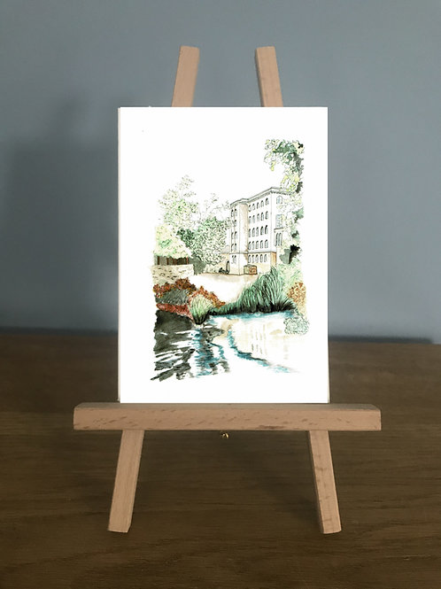 The Mill - Blank Greetings Card