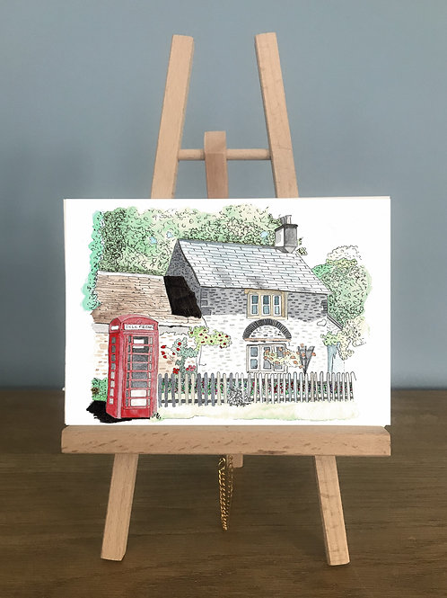 Corsham Cottage - Blank Greetings Card
