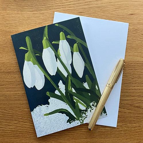 Blank Greetings Card | Snowdrops