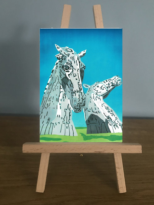 The Kelpies - Blank Greetings Card