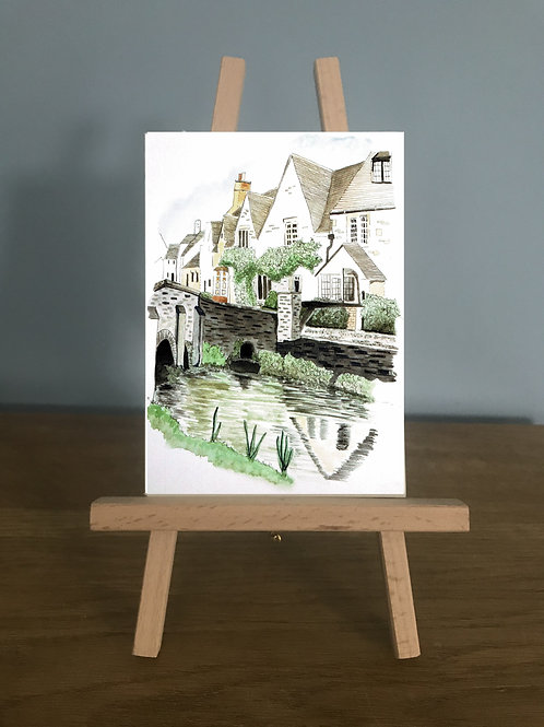 Blank Greetings Card | Castle Combe