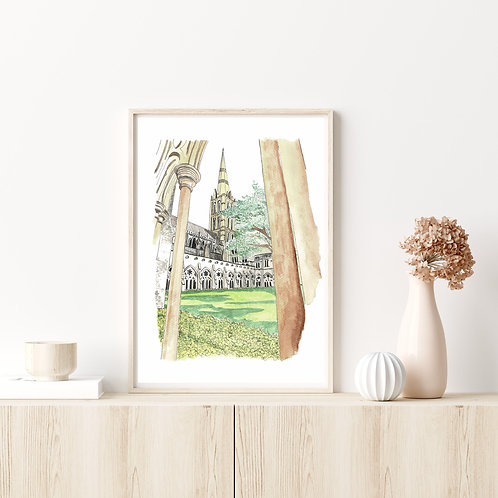 Limited Edition Artist Print | Salisbury Cathedral