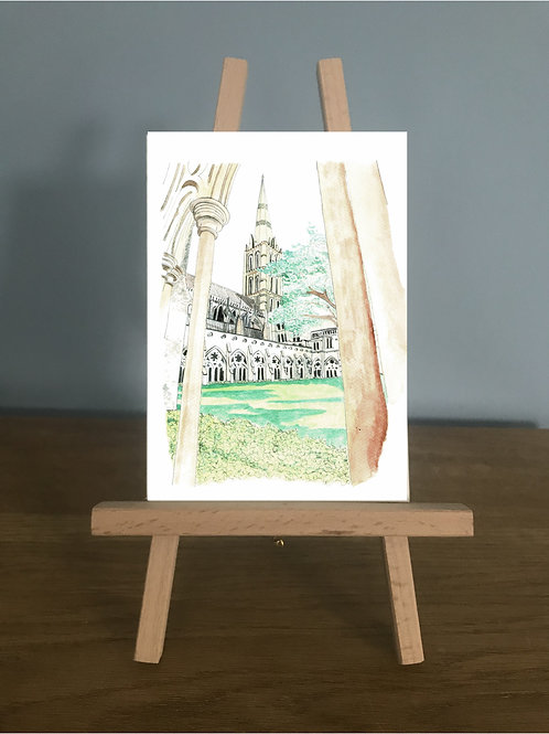 Blank Greetings Card | Salisbury Cathedral