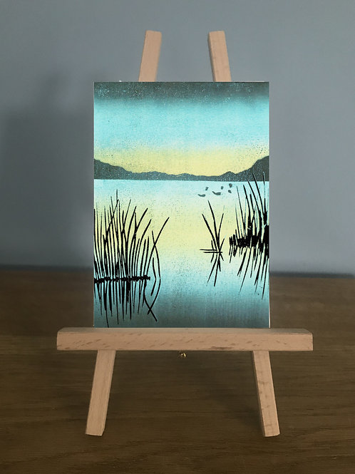 The Lake - Blank Greetings Card