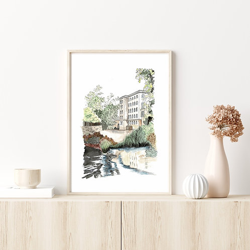 Limited Edition Artist Print | The Mill