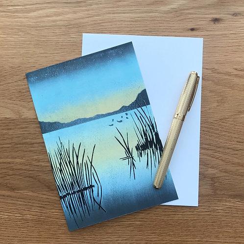 Blank Greetings Card   The Lake