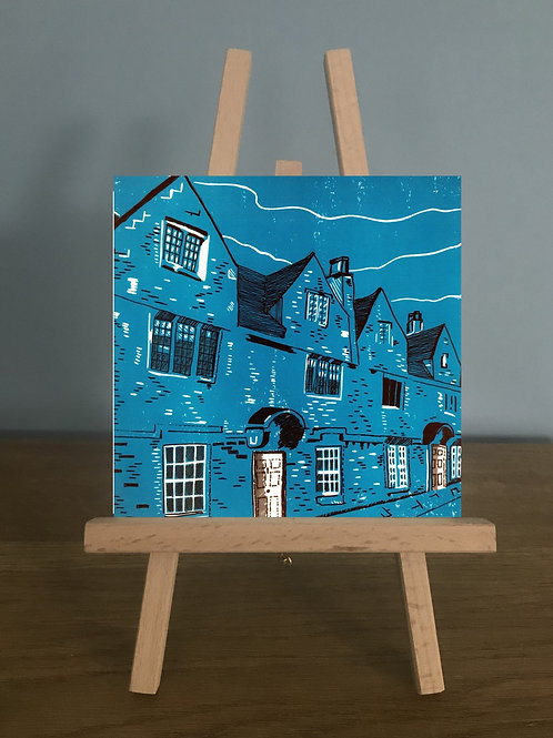 Weavers' Cottages - Blank Greetings Card