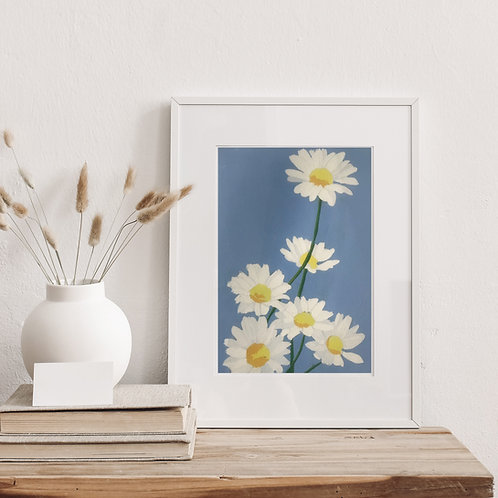 Limited Edition Reduction Lino Print | Daisies