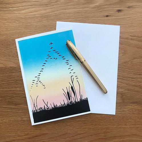 Blank Greetings Card | Migration