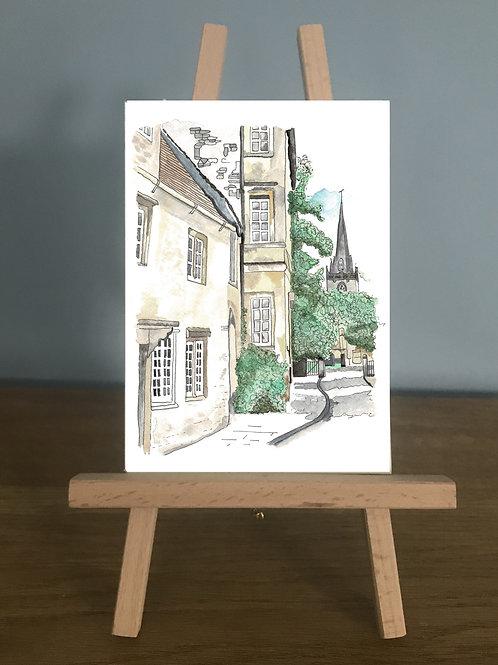 Church Street, Corsham - Blank Greetings Card
