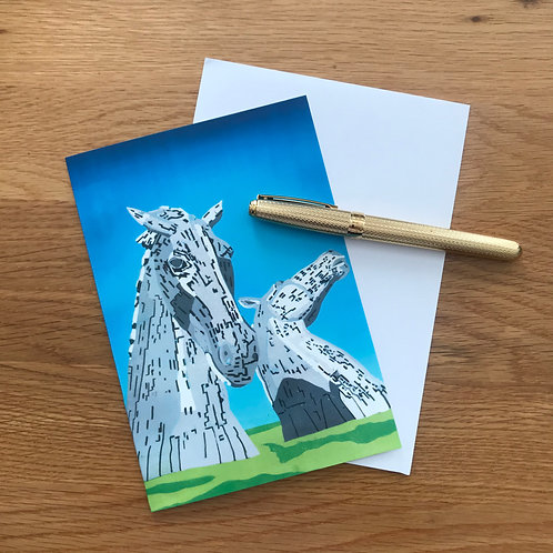 Blank Greetings Card | The Kelpies