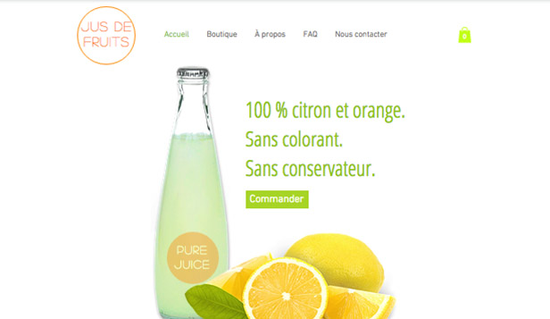 Alimentation et Boissons website templates –  Jus de Fruits