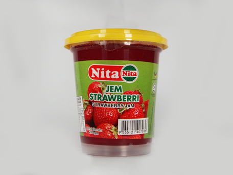 NITA Plastic Bottle Jam, Strawberry