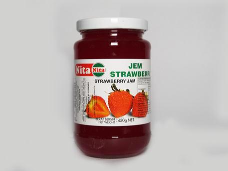 NITA Glass Bottle Jam, Strawberry